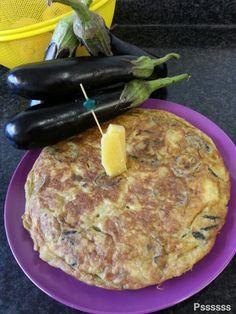 La cocina de Pssssss: TORTILLA DE BERENJENA Y QUESO CURADO