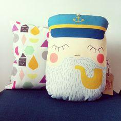 maritimes Kissen Seebär, Seemann // pillow sailor, captain by Tante Tin via DaWanda.com