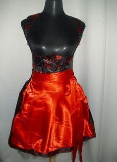 Kaufe meinen Artikel bei #Kleiderkreisel http://www.kleiderkreisel.de/damenmode/sonstiges/99271980-satin-dirndl-grosse-3638-in-schwarzrot