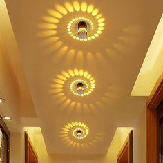 Hallway ceiling light fixtures modern creative led 7 colors lighting for corridor indoor fixture small fixt .