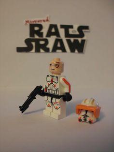 Lego Star Wars minifigures - Clone Custom Commander Cody