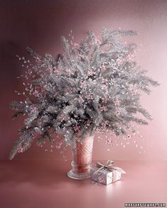 Pink and Silver Floral Bouquet