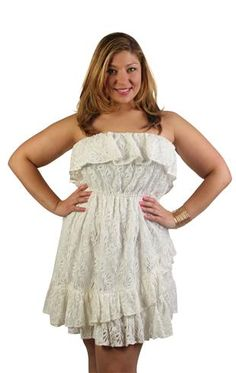 plus size all over stretch lace day dress