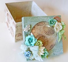 Altered Box w/Dome Lid Jewelry Box Keepsake by MyScrapCabinShop