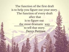 writingbox: The function of the first draft is to help you...