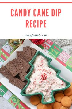 Seeing Dandy - The Craft Patch - Seeing Dandy This candy cane dip recipe has the perfect amount of peppermint flavor. It's easy to make and delicious. Plus, it's gluten free! Perfect for your next holiday party. Single Serve Desserts, Desserts For A Crowd, Winter Desserts, Great Desserts, Christmas Desserts, Christmas Treats, Christmas Baking, Delicious Desserts, Creative Desserts