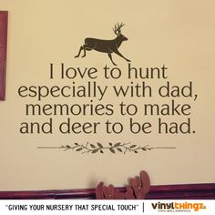Wall Decals Nursery Hunting Deer Baby Childrens by Vinylthingz, $25.00