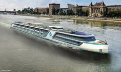 Exterior Rendering ~ Crystal River Cruises to Launch New River Yacht Class Vessels in 2017 Crystal River Cruises, Uniworld River Cruises, European River Cruises, Cruise Ship Names, Cruise Ships, Cruise Reviews, Danube River, Viking River Cruise Danube, New River