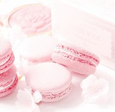Nothing but pink. Giving you only the best of pink and pastel aesthetic. ~On Hiatus~ Beautiful Desserts, Cute Desserts, Beautiful Cakes, Pink Desserts, French Desserts, Macarons Rose, Pink Macaroons, Rose Bonbon, Unicorn Foods