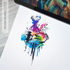 Abstract and colorful Harry Potter design for Gemma