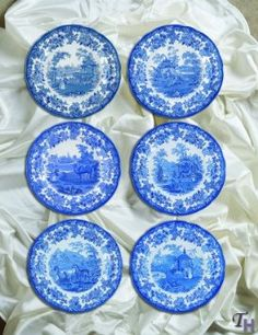 Amazon.com: Spode Blue Room Zoological Plates, Set of 6 Assorted Motifs: Kitchen & Dining