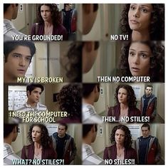 Teen Wolf Season 2 Scott McCall, Melissa McCall and Stiles Stilinski