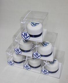Football - Velez - Minicakes Souvenirs  Violeta Glace