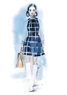 Christian Dior Pre-Fall 2015 Tatiana Malikova fashion illustration