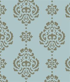Large Rosie Damask All Over Wall Stencil Painted Floors, Painted Furniture, Damask Wall Stencils, Timber Walls, Embroidery Motifs, Cottage Interiors, Wall Treatments, Vintage Fabrics, Furniture Projects
