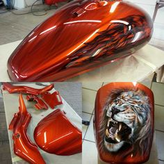 I love mixing finishes and art styles together. Not always easy to pull off but if your client allows some artistic freedom within his project that still meets his specifications, the result can be stunning. It can only be achieved with years of experience, a top artist ##tankgirlairbrushart and high quality products.  #galaxycustomspta #tropicalglitz #glasurit #baslac #DNApaints