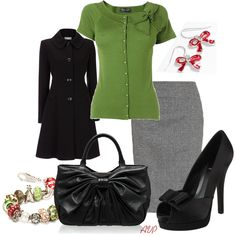 Holiday Party Time - Tied with Christmas Bows - Polyvore