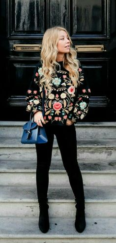 Rich Floral Embroidery sweater now available @PASABOHO :: boho chic :: gypsy style :: hippie chic :: boho fashion :: outfit ideas :: boho clothing :: free spirit :: fashion trend :: embroidery :: flowers :: floral :: lace :: fabulous :: love :: street style :: fashion style :: boho style :: bohemian :: modern vintage :: cardigans :: jacket :: sweater