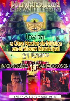 Sábado a puro show musical en el vivero municipal de Winifreda