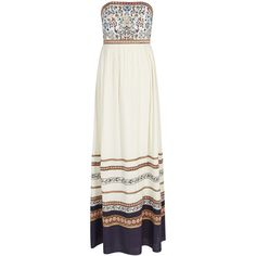 Alice + Olivia Quyen Embroidered Maxi Dress - Size 12 (£595) ❤ liked on Polyvore featuring dresses, navy dress, navy skater skirt, navy blue maxi dress, flared skirt and skater skirt
