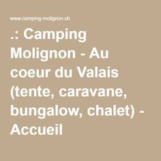 Zwitserland Les Hauderes - Camping Molignon