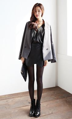 Gray & Black ♥ itsmestyle.com