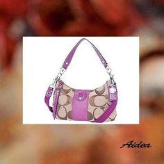 Coach signature stripe demi crossbody pink handbag purse