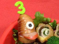 遠足 お弁当に!簡単*おばけウインナーの画像 Sushi, Ethnic Recipes, Desserts, Food, Tailgate Desserts, Deserts, Eten, Postres, Dessert