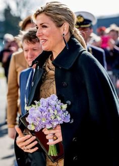 ♥•✿•QueenMaxima•✿•♥...On March 7, 2017, Queen Máxima of the Netherlands visits the Koppert Cress in Westland. During her visit, Queen Máxima visited the testing ground for various edible flowers and plants.