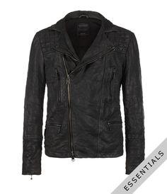 all saints cargo biker leather jacket