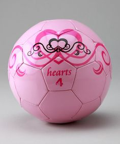 My kind of soccer ball... but my pre-teen soccer girls wouldn't be caught DEAD with this!