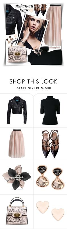 """""""Statement Bags : black pink"""" by gingerbrand ❤ liked on Polyvore featuring Valentino, Chicwish, Marni, Kenneth Cole, Dolce&Gabbana, Ted Baker, statementbags and BlackPink"""