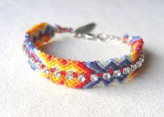 Embellished Friendship Bracelet w/ Rhinestones  by tjalaine, $28.00