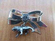Sterling Lions pin Lions Club International by lolatrail on Etsy, $20.00