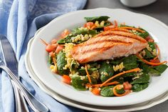 Healthy Recipes For Pregnant Women - Lemony Lentil Salad with Salmon