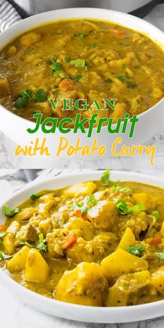 This Instant Pot Vegan Jackfruit with Potato Curry recipe is so amazing and flavorful, made with simple ingredients it will be a favorite of yours as it is of mine. #potatocurry #vegancurry #glutenfree #jackfruit