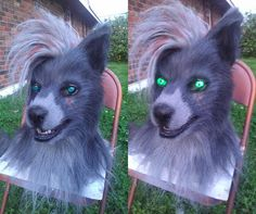 Miles Completed - Lit/Unlit Eyes by wynderkind Halloween Cosplay, Cosplay Costumes, Fursuit Head, Maned Wolf, Wolf Mask, Custom Airbrushing, Anthro Furry, Animal Costumes, Werewolf