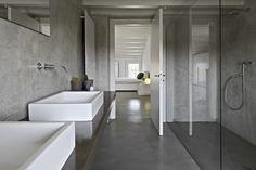 Cement gietvloer badkamer