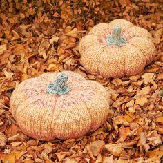 Förgyll ditt hem med dessa underbart vackra jättepumpor! De stickas på sticka 4-6 mm i Lollipop Melange (Färg 03 och 07) som är ett mjukt garn med härliga melerade färgskiftningar som vecklar ut sig som vackra ränder. Garnet består av 30% ull och 70% HB akryl, som gör det lätt att arbeta med. Pumpan mäter ca. 35 (40) cm i diameter. #hobbiilollipopmelange #stickadepumpor #hobbiidesign #hobbiijättepumpor #hobbiigiantpumpkin Fall Crafts, Diy And Crafts, Tricot Baby, Giant Pumpkin, Circular Needles, Knit Or Crochet, Halloween Decorations, Free Pattern, Philadelphia
