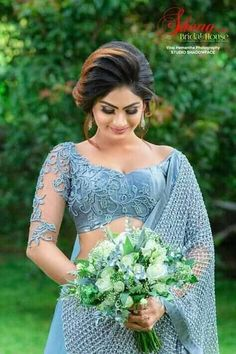 Bridal Sari, Bridal Dresses, Bridesmaid Dresses, Half Girlfriend, Girlfriend Quotes, White Saree Wedding, Fancy Sarees Party Wear, Sri Lankan Bride, Srilankan Wedding
