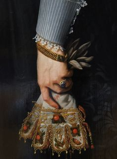 (Detail) Portrait of a Woman Aged 34 Years,Nicolaes Eliaszoon Pickenoy,1634.