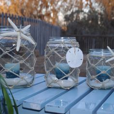 Beach Themed Crafts For Toddlers about Diy Arts And Crafts Room Decor upon Easy Beach Themed Crafts Nautical Candle Holders, Nautical Candles, Nautical Rope, Nautical Theme, Nautical Bathrooms, Beach Bathrooms, Nautical Bedroom, Seashell Crafts, Beach Crafts