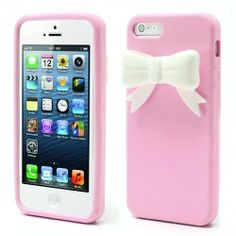 iPhone 5, 5s Bowknot 3D TPU Cover, case, hoesje