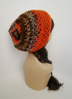 """Starburst Slouch - Fire Hunter $25 -- LIKE MY PAGE >  www.facebook.com/tzigns -- SHOP > www.tzigns.etsy.com Coupon code """"Pin10"""" saves you 10%! #christmas #gift #giftguide #giftsforher #crochet #etsy #yarn"""