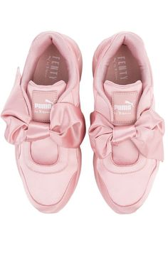 27e5fb8fd78 The Puma Fenty by Rihanna Bow Sneaker in Silver Pink Rihanna Sneakers