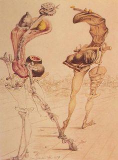 Salvador Dali - Gradiva Becoming Fruits, Vegetables, Pork, Bread, and Grilled Sardine, 1939