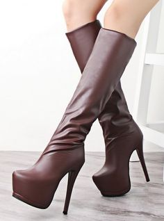 Winter Fashion High-Heeled Boots