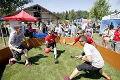 Military Appreciation Day in Gig Harbor for Joint Base Lewis-McChord | Soldiers from Joint Base Lewis-McChord enjoyed a picnic and games with fellow service members and their families Friday afternoon at Sehmel Homestead Park. LEE GILES III — Staff photographer