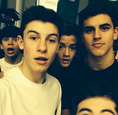 Jack Gilinsky, Shawn Mendes, Jack Johnson and Hayes Grier