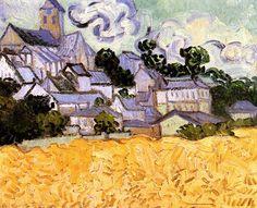 Vincent van Gogh. View of Auvers with Church. Auvers-sur-Oise: July 1890